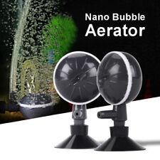 2X Air Bubble Increaser Adjustable Oxygen Ball Pump For Aquarium Tank Black Mini