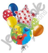 7 pc Sesame Street Elmo Big Bird Balloon Bouquet Happy Birthday Party Decoration