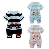 Infant Baby Boys Girls Blouse T-Shirt Tops+Shorts Pants Casual Soft Set Outfits