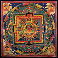 Framed Print - Colourful Buddhist Mandala (Picture Poster Buddha Art Religion)