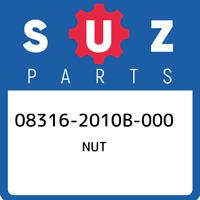 08316-2010B-000 Suzuki Nut 083162010B000, New Genuine OEM Part
