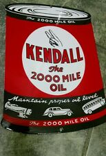 KENDALL GAS  Oil Gasoline Porcelain Advertising sign