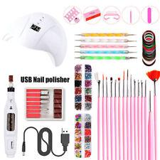 Portable UV Lamp LED USB Dry Nail Kit Manicure Set Acrylic Nail Files Buffers