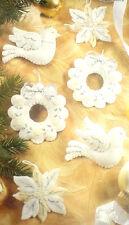 Bucilla Christmas Felt Applique Holiday Ornament Kit,WHITE CHRISTMAS