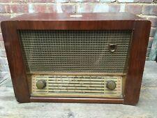 Antique HMV Model No.5127 Valve Radio MW SW Wooden Spares Repairs Magic Eye 50s