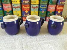 (3) Nice studio Pottery Ceramic Coffee Mugs Cups by MA artist Lloyd Hamovit