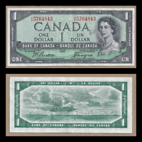 Devil's Face 1954 $1 Bank of Canada Beattie Coyne - EF/AU