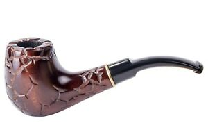 Dr. Watson - Wooden Tobacco Smoking Pipe - SAHARA - Hand Carved, Fits 9mm filter