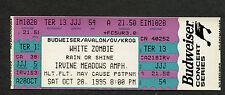 1995 White Zombie Toadies The Cramps Concert Ticket Irvine CA Astro Creep