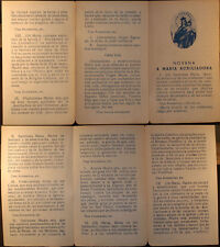 OLD VIRGIN MARY HELP HOLY CARD NOVENA ANDACHTSBILD SANTINI IMAGE PIEUSE CC574