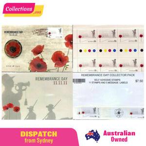 Australia 2011 Remembrance Day 11.11.11 Bundle - PNC & Stamps - Excellent Value!
