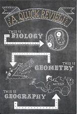 Chalkboard Review School Is History Graduation Graduate Hallmark Greeting Card