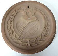 Hartstone Pottery 1979 Rare Doves Lovebirds Round Cookie Mold