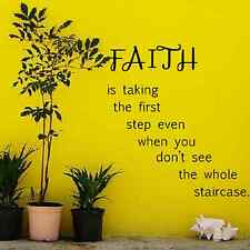Faith is taking the first step wall art quote decal vinyl sticker home decor