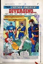 Sal Buscema 1983 Captain America 284 splash page 1 Marvel color guide art:1980's