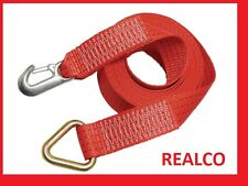 RED 10 METER WINCH EXTENSION (rope winching 4X4 recovery strap)
