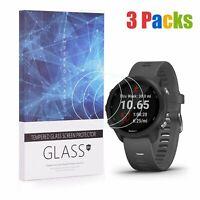 For Garmin Forerunner 245 Tempered Glass Screen Protector 9H Hardness (3 Packs)