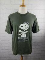 Vintage 1990s Iceberg Jeans Snoopy Peanuts Hip Hip T Shirt tee Men's LG 90s VTG
