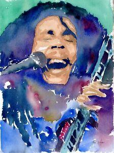 No Cry (Bob Marley) - Original Watercolor