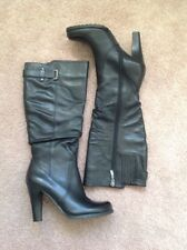 New Ladies Guess Black Knee High Boots - Size 5