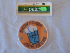 1972 JOHN DEERE PATCHES SNOW POWER JOHN DEERE TY1304 PATCH IN ORIGINAL PACKAGING