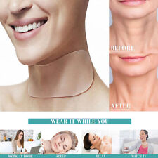 Reusable Silicone Neck Care Pad Anti Wrinkle Aging Transparent Pad