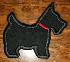 SCOTTIE DOG BLACK QUILT APPLIQUE PATCH IRON ON