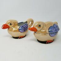 Vintage Lusterware Luster Ware MADE IN JAPAN Duck Creamer and Sugar Bowl