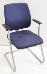 Sedus Early Bird - blau - Konferenzstuhl / Freischwinger - Gestell silber