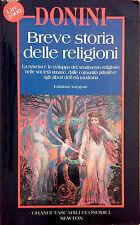 BREVE STORIA DELLE RELIGIONI DI DONINI. EDIZ. INTEGRALI