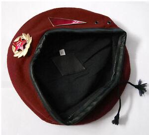 Soviet Russian Military MVD Spetsnaz Maroon Red Beret Hat