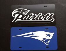 "SET OF 2 New England Patriots NFL 12""x6"" Plastic License Plate  ""SPECIAL SALE"""