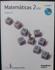Matematicas 2º- ESO-ANDALUCIA.-VOL 3-GRAZALEMA-SANTILLANA(Libro Usado)