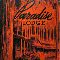 Vintage 1940s Paradise Lodge Inn Dinner Menu Oregon Mt Rainer National Park