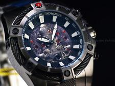 New Invicta 52mm Ltd.Ed. Gunmetal IG88 Bolt Quartz Chronograph SS Bracelet Watch