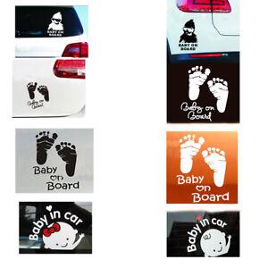 Baby on Board / in Car Windscreen Body Panel Bumper Car Sign Transfer Sticker