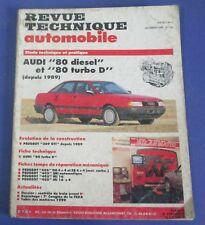 Revue technique automobile rta 522 Audi 80 diesel & turbo D depuis 1988