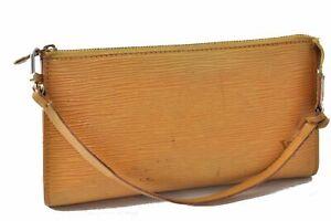 Authentic Louis Vuitton Epi Pochette Accessoires Pouch Yellow LV B3109