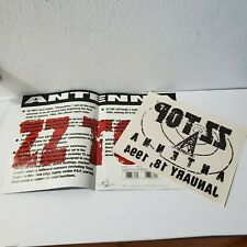 Vintage 1994 ZZ Top Antrnna Record Store Press Kit With Decal
