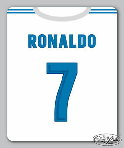 REAL MADRID themed MOUSEMAT mouse mat pad PERSONALISED football kit style