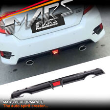 RR Style Rear Bumper bar Diffuser Lip & LED Lights for Honda Civic FC Sedan MY16