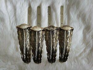 2 Sets Vintage New Curtain Drapery Holdbacks Feathers Kirsch Tiebacks Pullbacks