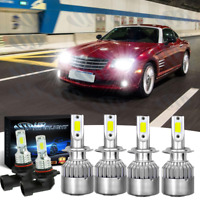 Fit For Chrysler Crossfire 2004-2008 - 6pc H7 9006 LED Headlight Fog Light Bulbs