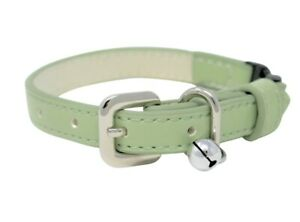 Luxury Pastel Green Vegan Leather | Breakaway | Adjustable Cat | Kitten Collar