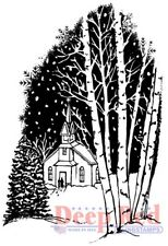 Deep Red Stamps Christmas Eve Rubber Cling Stamp