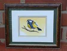 Gary Neill. Watercolour of a Great Tit 1994. Framed & glazed.