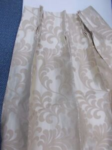 Brand New M & S  Jasmin Curtains   Pinched pleats