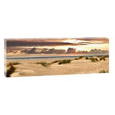 Nordsee Föhr Bild Leinwand Poster Strand Meer Modern Design 150 cm* 50 cm 608a