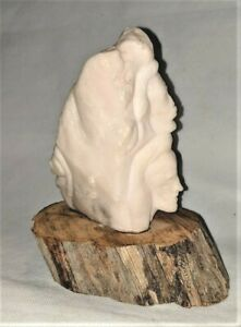 """""""The Gathering"""" Alabaster Sculpture - Signed John Bear Claw"""