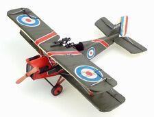 36CM Handmade Antique 1917 RAF Fighter Bomber Tin Metal Plane Reproduction Model